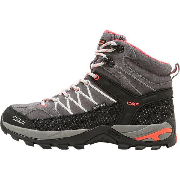 83538effc3c4cb CMP RIGEL MID SHOES WP Buty trekkingowe grey/red fluo - Trekkingi ...