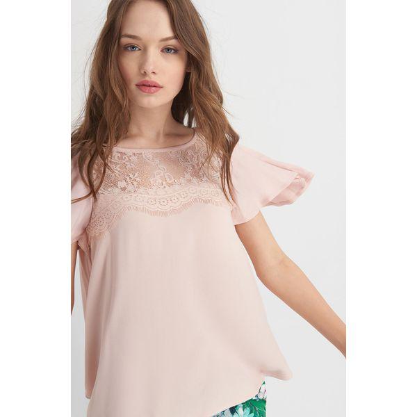 15386bc01ffa21 Koszulka z koronką na dekolcie - T-shirty damskie Orsay, w koronkowe ...