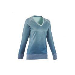 Sweter NH150 damski. Zielone swetry damskie QUECHUA. W wyprzedaży za 29.99 zł.
