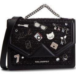 Torebka KARL LAGERFELD - 86KW3015 Black 999. Czarne torebki do ręki damskie KARL LAGERFELD, z materiału. Za 1,799.00 zł.