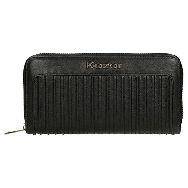2c91f8f60d2d3 Skórzany portfel w kolorze czarnym - (S)20 x (W)10 cm - Portfele ...