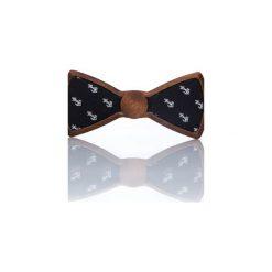 Sailor – Drewniana Mucha w Kotwice. Czarne krawaty i muchy Woodenlife, z bawełny. Za 119.00 zł.