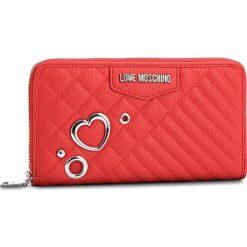 Duży Portfel Damski LOVE MOSCHINO - JC5542PP16LL0500 Rosso. Czerwone portfele damskie Love Moschino, ze skóry ekologicznej. Za 429.00 zł.