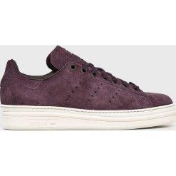 Adidas Originals - Buty Stan Smith New Bold. Szare obuwie sportowe damskie adidas Originals, z gumy. W wyprzedaży za 399.90 zł.