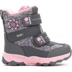 Szare Śniegowce Steadfastness. Szare buty zimowe dziewczęce Born2be, z materiału. Za 89.99 zł.