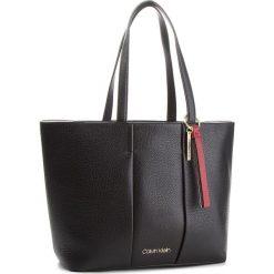 Torebka CALVIN KLEIN - City Leather Shopper K60K604476 001. Czarne torebki shopper damskie Calvin Klein, ze skóry. Za 1,299.00 zł.