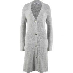 Długi sweter, długi rękaw bonprix jasnoszary melanż. Szare swetry damskie bonprix. Za 99.99 zł.