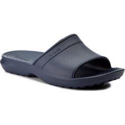 Klapki CROCS - Classic Slide 204067 Navy. Niebieskie klapki damskie Crocs, z tworzywa sztucznego. Za 89.00 zł.