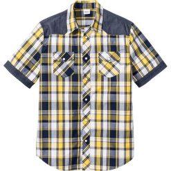 Koszula z krótkim rękawem Regular Fit bonprix żółty w kratę. Koszule męskie marki Giacomo Conti. Za 32.99 zł.