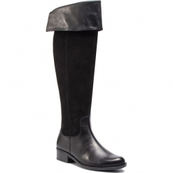 Muszkieterki CAPRICE - 9-25518-21 Black Comb 019. Czarne kozaki damskie Caprice, z nubiku. W wyprzedaży za 379.00 zł.