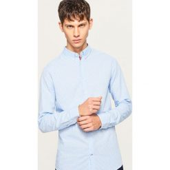 Koszula slim fit w drobną kratkę - Niebieski. Koszule męskie marki Giacomo Conti. W wyprzedaży za 49.99 zł.