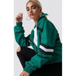 NA-KD Trend Kurtka Stripe Detailed Tracksuit - Green. Zielone kurtki damskie NA-KD Trend, w paski. Za 161.95 zł.