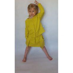 Spódnica limonka z dużymi kieszeniami rozmiar 2/3. Szare sukienki niemowlęce KU-KU. Za 99.09 zł.