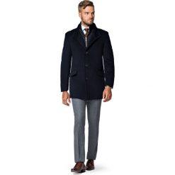 Płaszcz Granatowy Teofilo. Niebieskie płaszcze męskie LANCERTO, na jesień, z bawełny, eleganckie. Za 799.90 zł.
