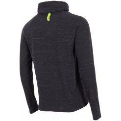 4F Męska Koszulka H4Z17 tsml003 Czarny Melanż L. Czarne koszulki sportowe męskie 4f, z bawełny, z długim rękawem. W wyprzedaży za 56.00 zł.
