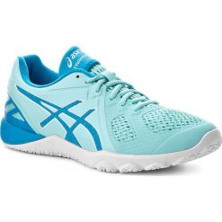 Buty ASICS - Conviction X S753N Aqua Splash/Diva Blue/White 6743. Niebieskie obuwie sportowe damskie Asics, z gumy. W wyprzedaży za 309.00 zł.