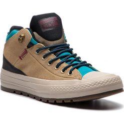 Trampki CONVERSE - Ctas Street Boot Hi 162359C Khaki/Black//Rapid Teal. Brązowe trampki męskie Converse, z gumy. W wyprzedaży za 289.00 zł.