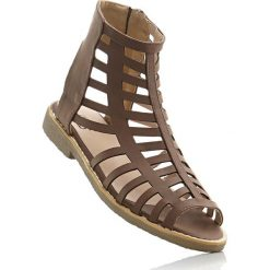 Sandały bonprix brązowy. Sandały damskie marki bonprix. Za 37.99 zł.