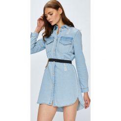 Guess Jeans - Sukienka. Szare sukienki damskie Guess Jeans, z jeansu, casualowe. Za 549.90 zł.