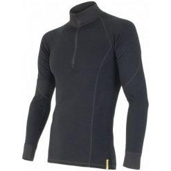 Sensor Koszulka Termoaktywna Z Długim Rękawem Double Face Merino Wool M Black M. Czarne koszulki sportowe męskie Sensor, z długim rękawem. Za 229.00 zł.