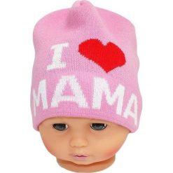 Czapka niemowlęca z napisem mama CZ 161E różowa. Czapki dla dzieci marki Reserved. Za 30.75 zł.