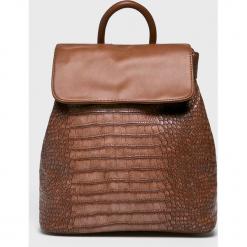 Answear - Plecak. Brązowe plecaki damskie ANSWEAR, z materiału. W wyprzedaży za 89.90 zł.