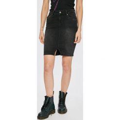 Pepe Jeans - Spódnica Taylor. Szare spódnice damskie Pepe Jeans, z bawełny. Za 299.90 zł.
