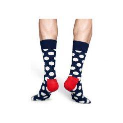 Skarpetki Happy Socks - Big Dot Sock (BD01-608). Szare skarpety męskie Happy Socks, z bawełny. Za 34.90 zł.