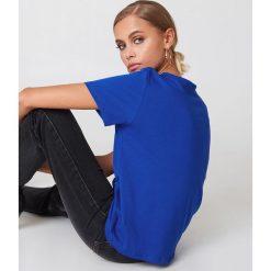 NA-KD Basic T-shirt oversize - Blue. Niebieskie t-shirty damskie NA-KD Basic, z bawełny. Za 52.95 zł.