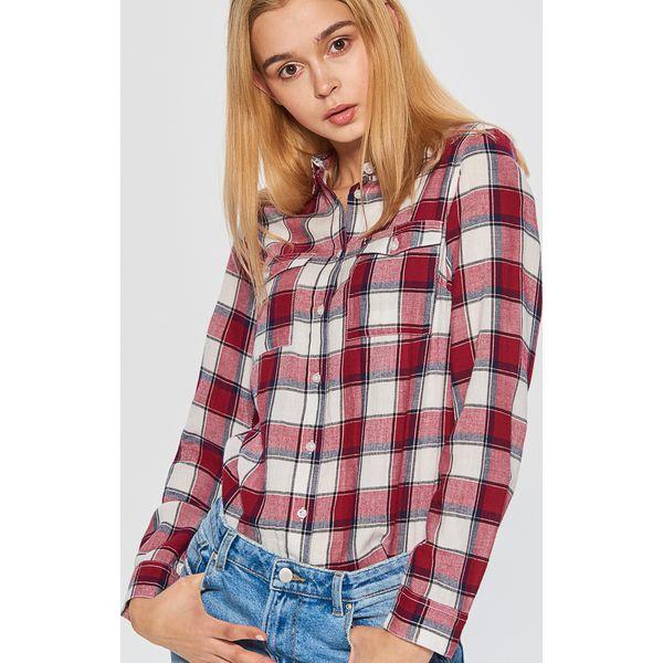 4be8873d0b6303 Koszula w kratę - Bordowy - Koszule damskie Cropp. W wyprzedaży za ...