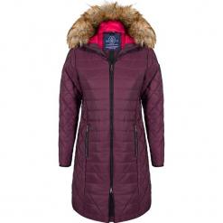 Płaszcz zimowy w kolorze fioletowym. Fioletowe płaszcze damskie Giorgio di Mare, na zimę, z materiału. W wyprzedaży za 347.95 zł.