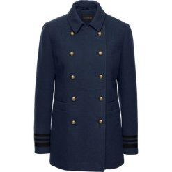 Krótki płaszcz ze złotymi guzikami bonprix ciemnoniebieski. Płaszcze damskie marki FOUGANZA. Za 239.99 zł.