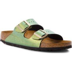 Klapki BIRKENSTOCK - Arizona Bs 1012391  Gemm Gold. Zielone klapki damskie Birkenstock, ze skóry. W wyprzedaży za 229.00 zł.