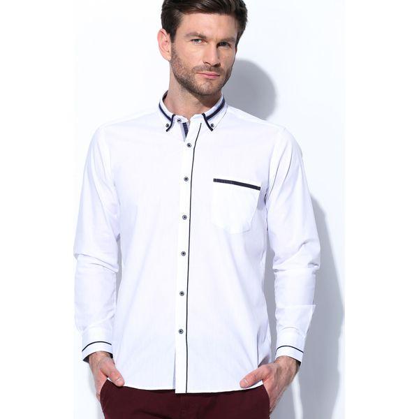 6aed21389571c7 Biało-Granatowa Koszula High Spirits - Koszule męskie marki Born2be ...