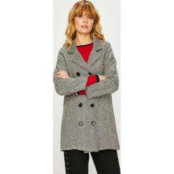 Trendyol - Płaszcz. Szare płaszcze damskie Trendyol, z bawełny, klasyczne. Za 189.90 zł.