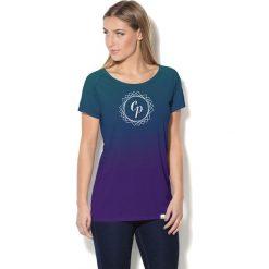 Colour Pleasure Koszulka CP-034  291 fioletowo-turkusowa r. XL/XXL. T-shirty damskie Colour Pleasure. Za 70.35 zł.