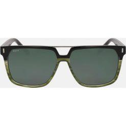 Zielono czarne okulary przeciwsłoneczne. Czarne okulary przeciwsłoneczne męskie Kazar, z tworzywa sztucznego. Za 349.00 zł.