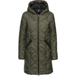 Płaszcz pikowany dwukolorowy bonprix ciemnooliwkowo-czarny. Płaszcze damskie marki FOUGANZA. Za 149.99 zł.