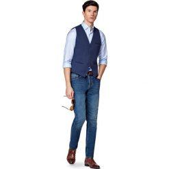 Jeansy Manhattan. Niebieskie jeansy męskie LANCERTO. W wyprzedaży za 299.90 zł.