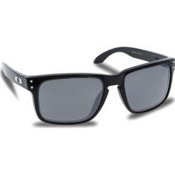 Okulary przeciwsłoneczne OAKLEY - Holbrook OO9102-E155 Polished Black/Prizm Black Iridium. Czarne okulary przeciwsłoneczne męskie Oakley, z tworzywa sztucznego. W wyprzedaży za 479.00 zł.