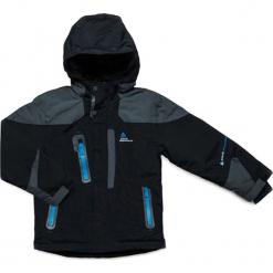 Kurtka narciarska w kolorze czarno-szarym. Czarne kurtki i płaszcze dla chłopców Peak Mountain. W wyprzedaży za 252.95 zł.