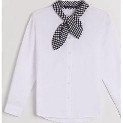 Koszula z wiązaniem Little Princess - Wielobarwn. Szare koszule damskie Mohito. Za 49.99 zł.
