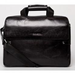 VIP COLLECTION - Torba Palermo. Czarne torby na laptopa męskie VIP COLLECTION, w paski, z materiału. Za 999.90 zł.