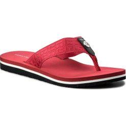 Japonki TOMMY HILFIGER - Jacquard Low Beach Sandal FW0FW02382 Tango Red 611. Czerwone klapki damskie Tommy Hilfiger, z materiału. W wyprzedaży za 129.00 zł.