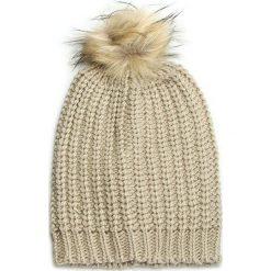 Czapka TWINSET - Cuffia AA6HGB  Visone C 0390C. Brązowe czapki i kapelusze damskie Twinset, z materiału. W wyprzedaży za 199.00 zł.