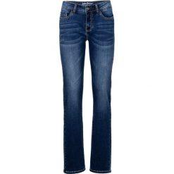 Dżinsy ze stretchem STRAIGHT bonprix niebieski. Jeansy damskie marki bonprix. Za 79.99 zł.