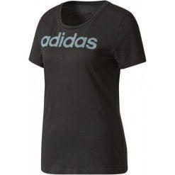 Adidas Koszulka Special Linear Black S. Czarne koszulki sportowe damskie Adidas, z bawełny, z klasycznym kołnierzykiem. W wyprzedaży za 70.00 zł.