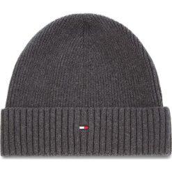 Czapka TOMMY HILFIGER - Pima Cotton Cashmere AM0AM03983 051. Szare czapki i kapelusze męskie marki Giacomo Conti, na zimę, z tkaniny. Za 129.00 zł.