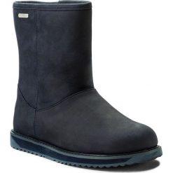 Buty EMU AUSTRALIA - Paterson Classic Leather Lo W11620 Midnight. Niebieskie kozaki damskie Emu Australia, z nubiku. W wyprzedaży za 479.00 zł.