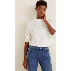 Mango - Bluzka Revo. Szare bluzki damskie Mango, z bawełny, casualowe, z okrągłym kołnierzem. Za 35.90 zł.